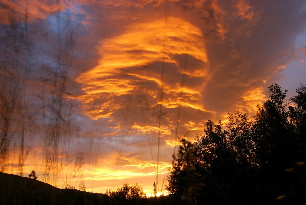 Clouds during sun rise in the Khibiny mountains
